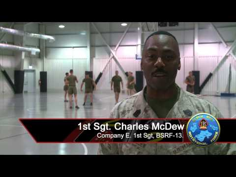 1st Sgt Charles Mcdew gives shout out from Romania to the Atlanta Falcons