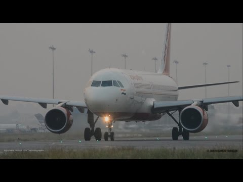 Up-close Video-Takeoff A320 Air India