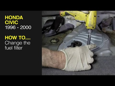 How to replace the fuel filter on a Honda Civic (96-00), CR-V (97-01), Acura Integra (94-00)