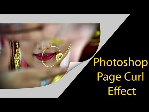 Photoshop Page Curl इफ़ेक्ट Page Turn Effect hindi tutorial by multitalent video