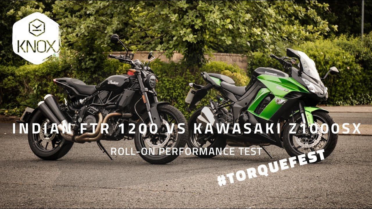 Indian FTR 1200 vs Kawasaki Z1000sx | Roll on performance TorqueFest!