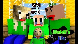 - monster school Baldi s life amazing story part 1 Minecraft Animation