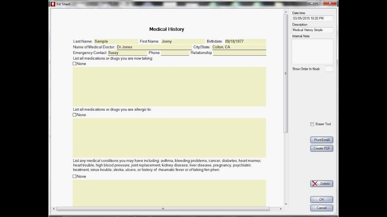 How to use the Signature Pad in EZ 2000 Plus Dental Software