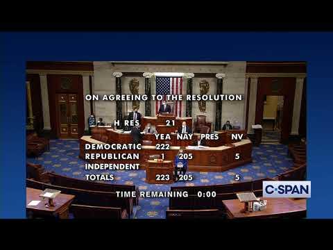 U.S. House APPROVES 25th Amendment Resolution
