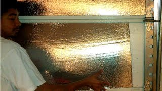 How To Insulate A Metal/aluminum Garage Door. Home Energy Saving Tips