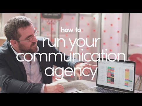 Communication agency shows how they use monday.com (Language: French)