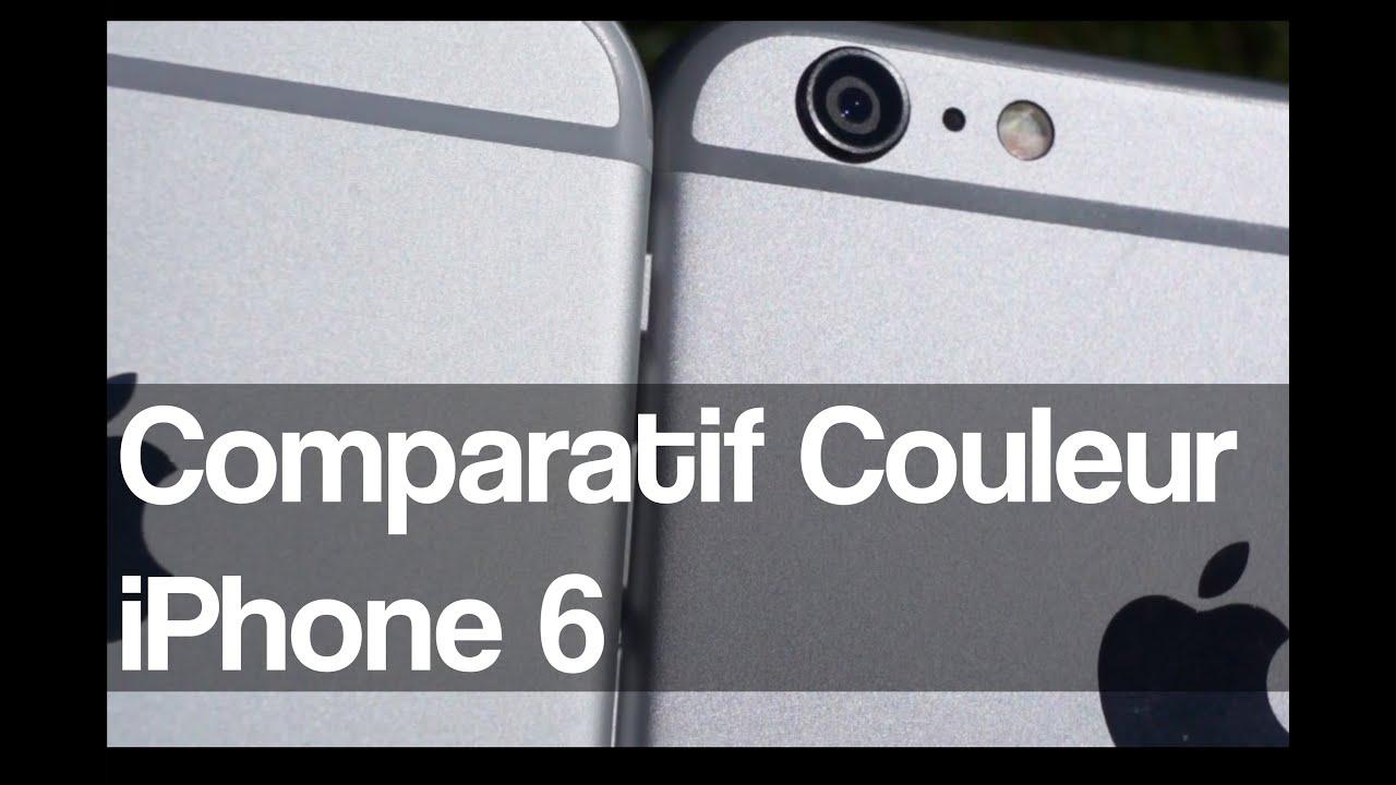 comparatif couleur de l 39 iphone 6 silver et gris sid ral youtube