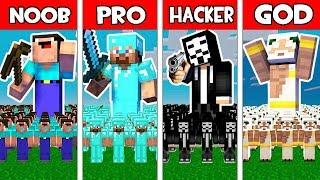 Minecraft - NOOB vs PRO vs HACKER vs GOD : ARMY BATTLE ADVENTURE in Minecraft Animation