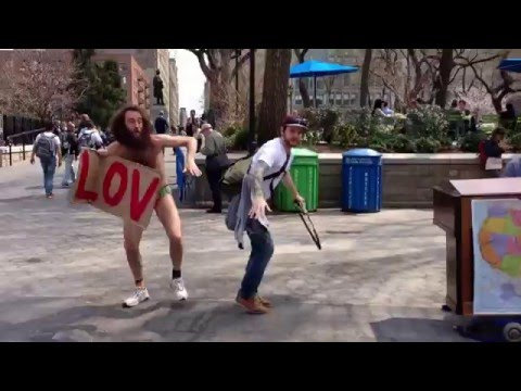 Crazy Homeless Man Dancing to Street Piano in New York City - Matthew Silver