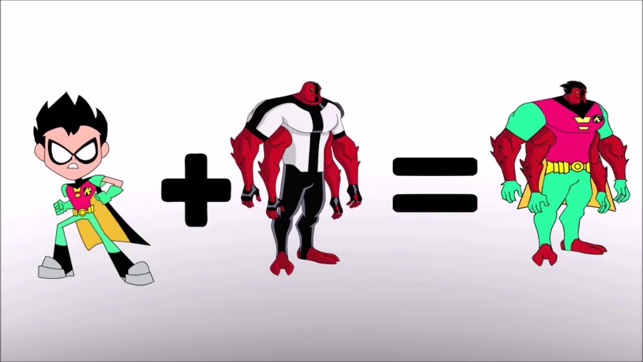 Teen Titans Go Robin Transforms Ben 10 Alien-Bowser12345 -4262