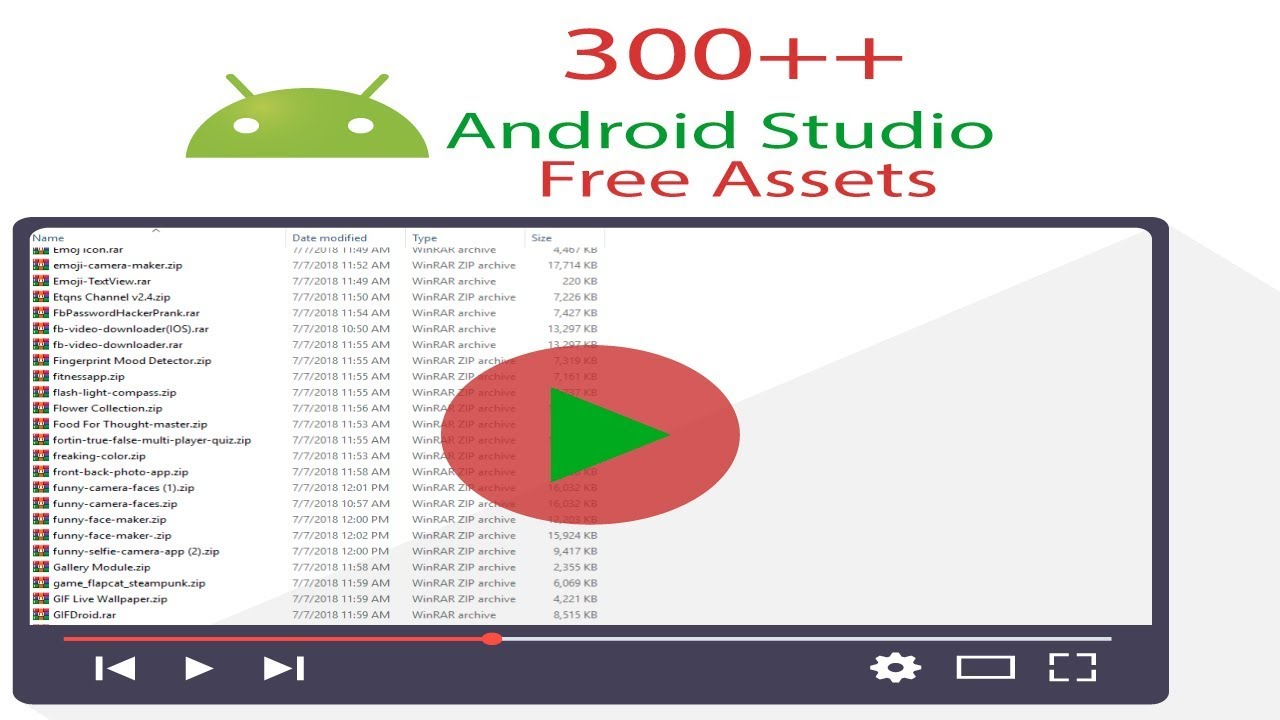 Android Free Asset   Top android studio free asset 2019