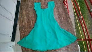 Umbrella cut churidar top cutting and stitching  easy method  part - 1