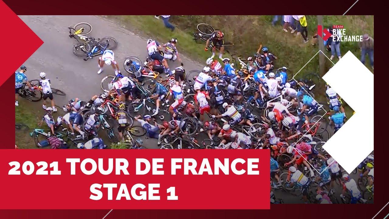 PILE-UPS AND PODIUMS   2021 TOUR DE FRANCE - STAGE 1