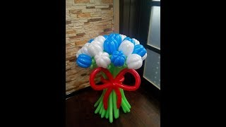 Как сделать тюльпан из шарика ШДМ,тюльпан из воздушного шара/Tulip balloon