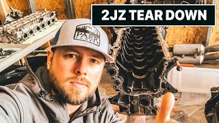 1000hp Supra Build 2JZ Engine Tear Down (Detailed)