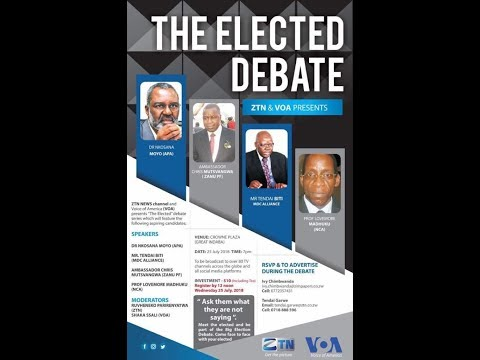 The Great Presidential Debate ft. Dr. Nkosana Moyo, Tendai Biti, Lovemore Madhuku & Chris Mutsvangwa