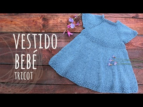 cefc7bf1316b7 Tutorial Vestido Bebé Tricot