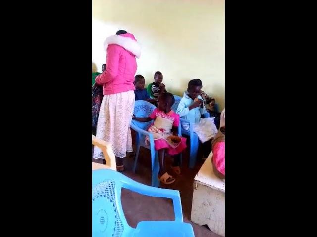 Children Receiving Food - GMFC / WFF Moi's Bridge Kenya 10-14-2018