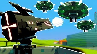 MOST POWERFUL LEGO CANNON EVER MADE DESTROYS UFO INVASION! - Brick Rigs Workshop Creations Gameplay