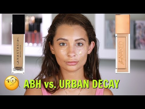 FOUNDATION BATTLE: ABH LUMINOUS vs URBAN DECAY STAY NAKED