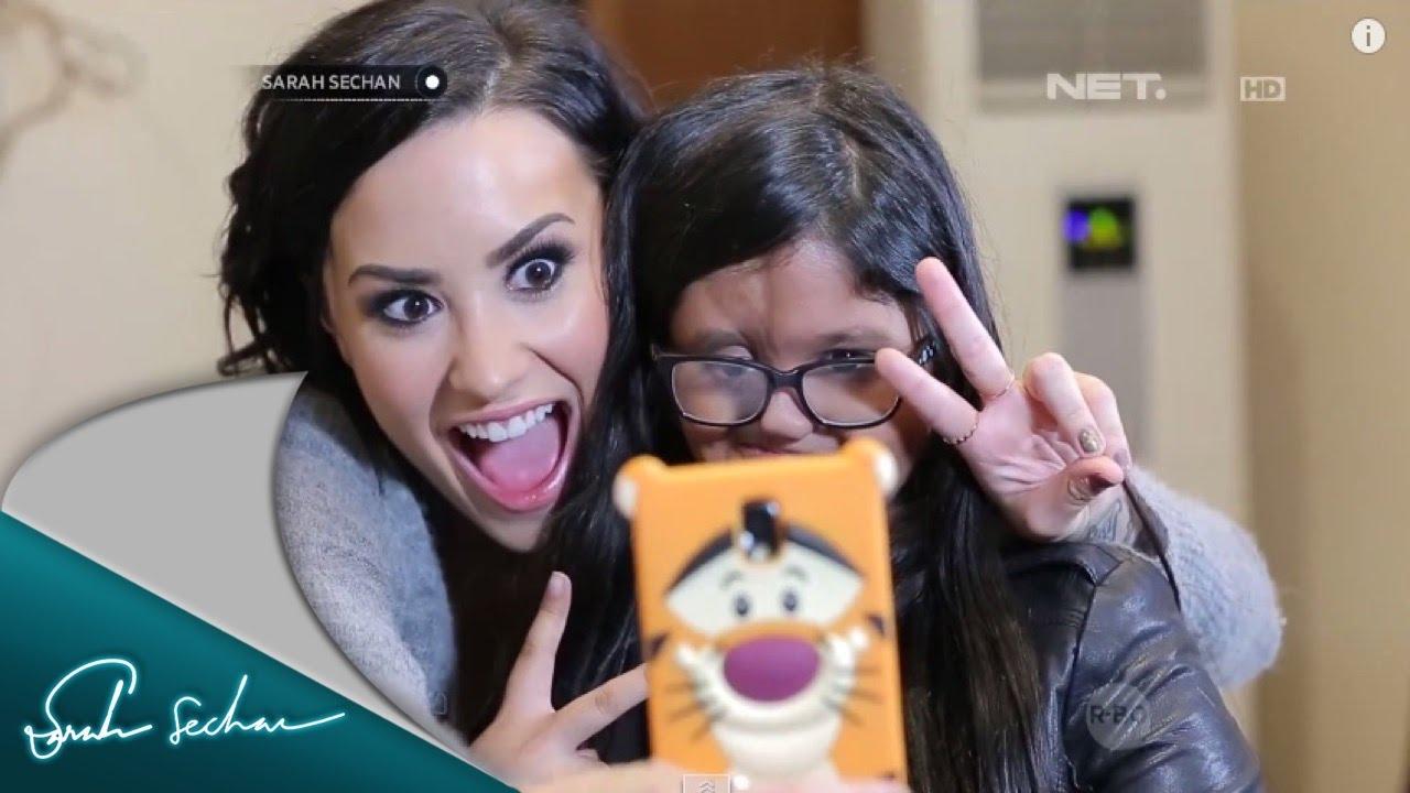 Nasywa Laila Cuwa Bertemu Langsung Dengan Idolanya Demi Lovato Youtube