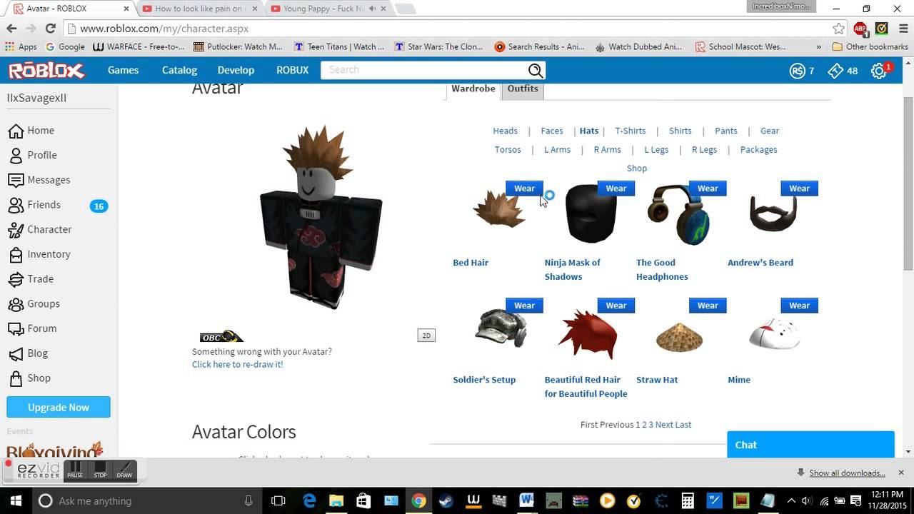 roblox how to look like pain