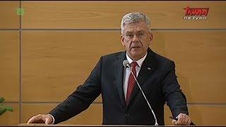 Inauguracja Roku Akademickiego w WSKSiM: Stanisław Karczewski, marszałek Senatu
