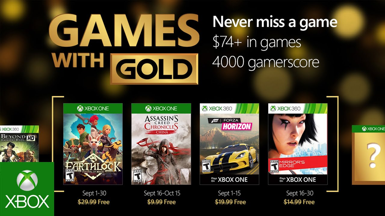 Xbox September Games With Gold Youtube