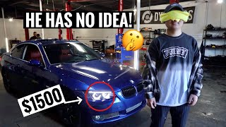 Surprising my Best Friend with his DREAM Headlights!