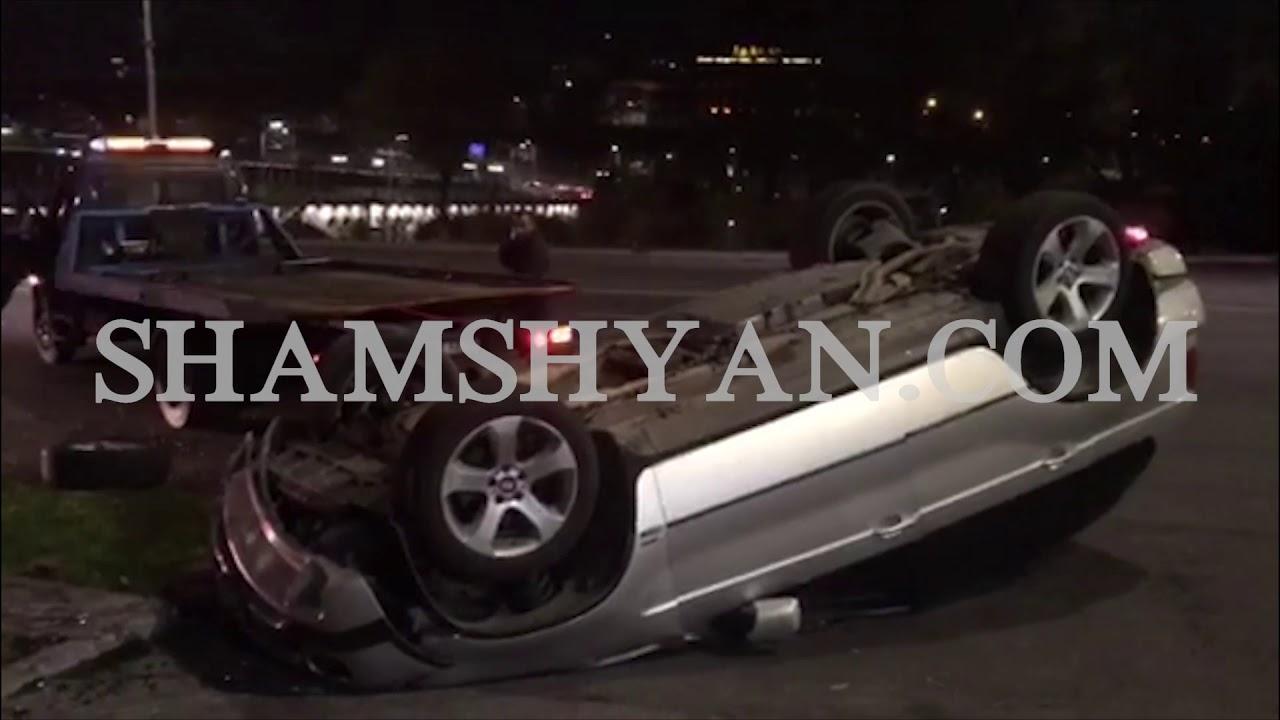 Երևանում. 21–ամյա վարորդը BMW X 5-ով  գլխիվայր հայտնվել «Մետրոպոլ» հյուրանոցային համալիրի տարածքում