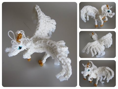 Rainbow Loom horse unicorn pegasus alicorn Part 1/2 Loombicious