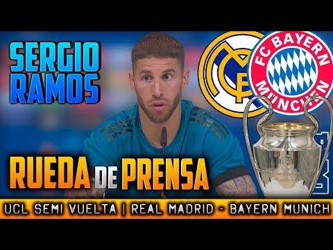 RUEDA DE PRENSA de SERGIO RAMOS Previa  : Real Madrid - Bayern Munich