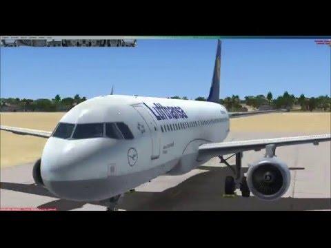 Microsoft Flight Simulator X. Aerosoft A320. Банги - Браззавиль