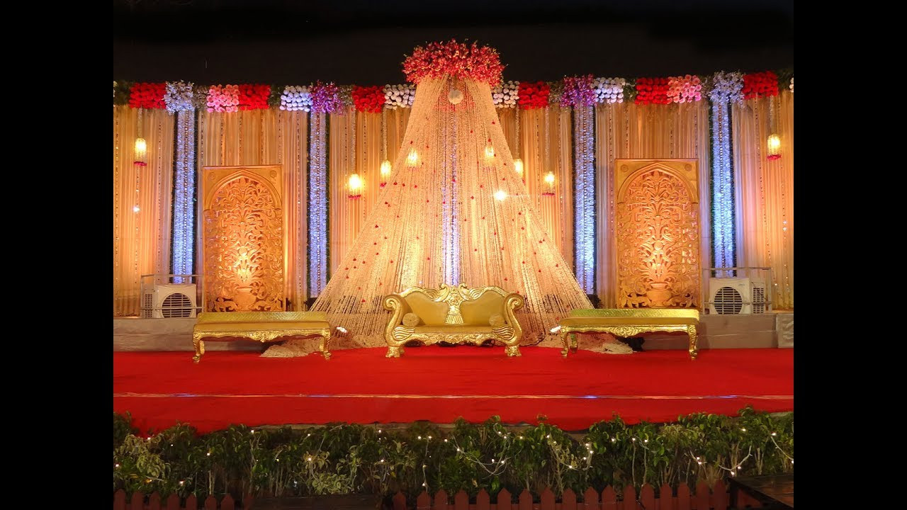 Best Wedding stage decoration marriage decoration ideas Wedding planners YouTube