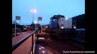 ČD-Diesel in Deutschland: Abfahrt von 714 212 in Johanngeorgenstadt am 13.12.2014