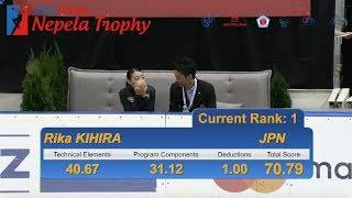 紀平 梨花 / Rika KIHIRA-  Ondrej Nepela Trophy SP - September 20, 2018