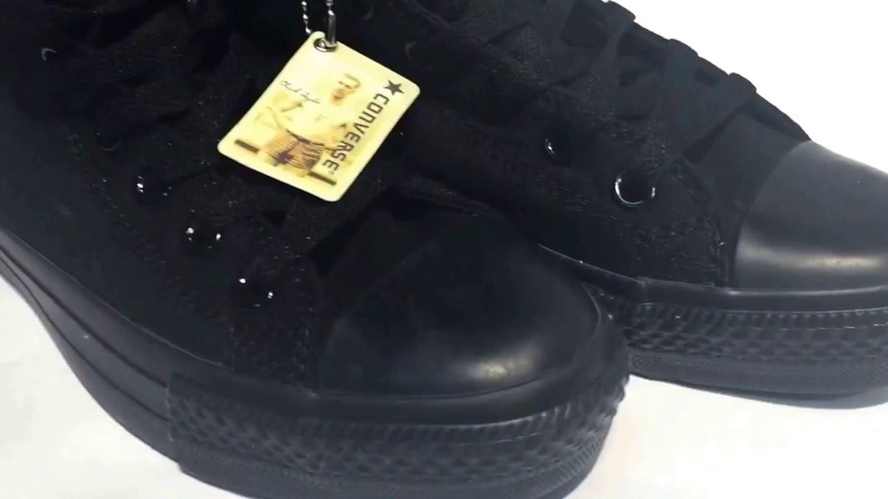 Купить Кеды Конверс Оригинал Converse Высокие черные - YouTube 809d0303883