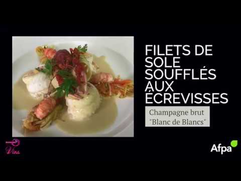 Accord met & vin - Filet de sole souflé aux écrevisses
