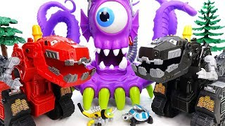 A Deep Sea Monster Is Appeared~! Dinotrux, Defeat The Monster Together - ToyMart TV