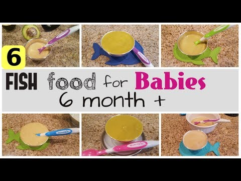 6 Baby Food FISH Recipes | Healthy Lunch/dinner Baby Food Ideas From 6-12 Months