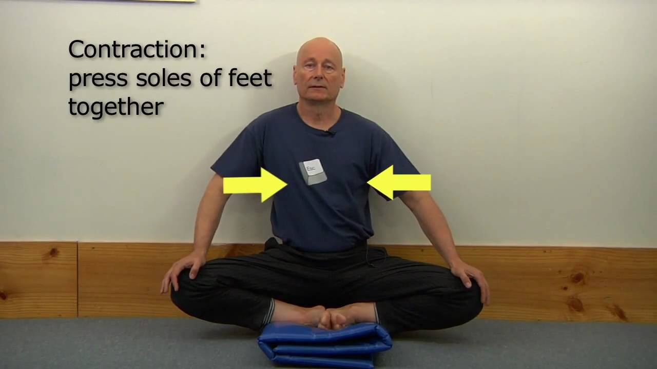 Tailor pose (badhakonasana) using the wall - YouTube