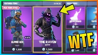 NEW Daily & Featured Item Shop in Fortnite Battle Royale... WHERE IS THE RAVEN SKIN?!