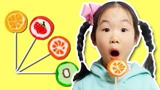 마슈사탕가게 열었어요~! 과일사탕 시크릿쥬쥬립스틱 사탕!! Pretend Play candy store- 마슈토이 Mashu ToysReview