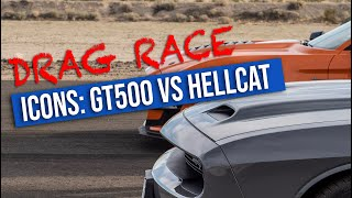 Epic Drag Race - Ford Mustang GT500 vs. Dodge Challenger SRT Hellcat [UHD 4K]