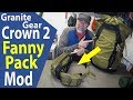 Granite Gear Crown 2 (Fanny Pack Backpacking Mod)