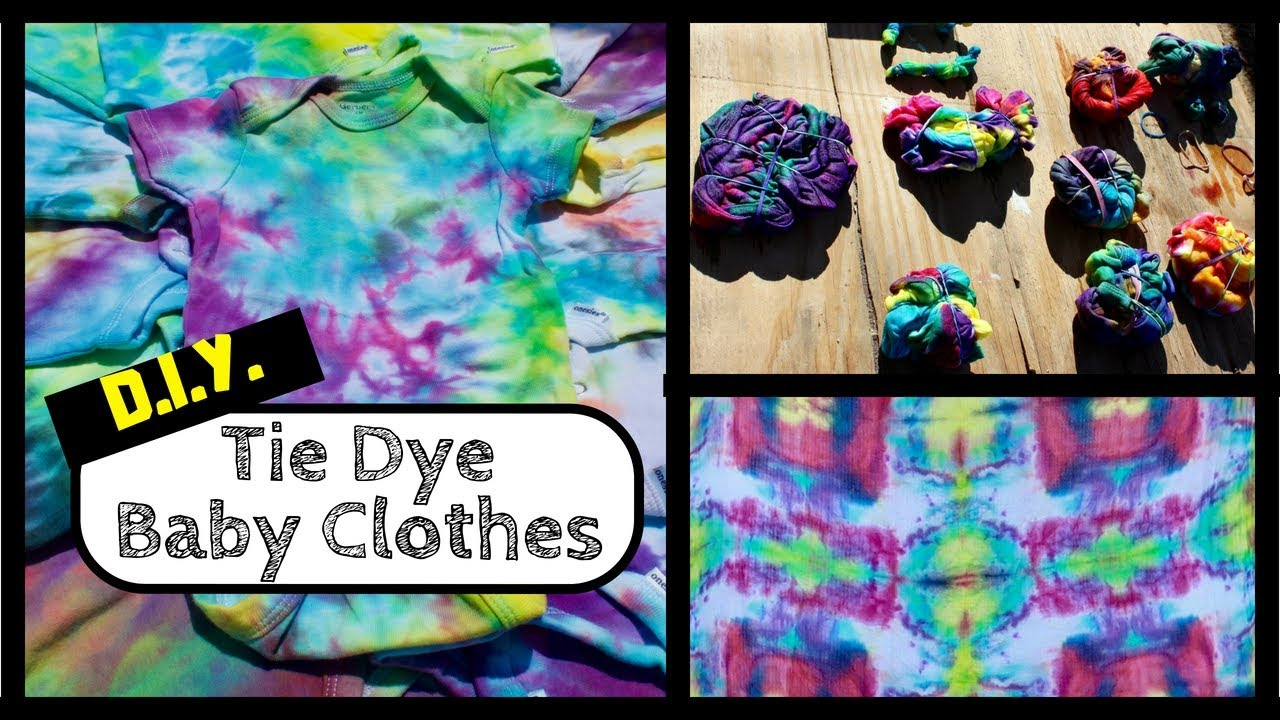 How to Tie Dye Baby Clothes - Unique Baby Shower Idea ...
