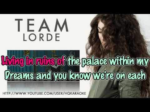 Lorde - Team [Karaoke / Instrumental]