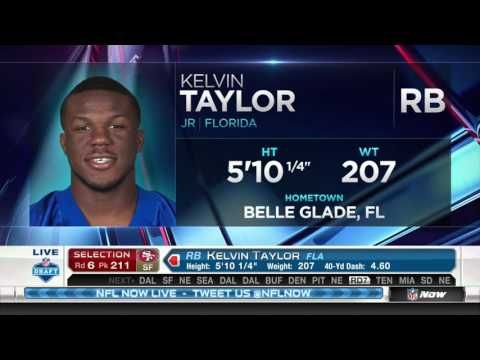 49ers Select Florida RB Kelvin Taylor with 211th Pick in 2016 NFL Draft