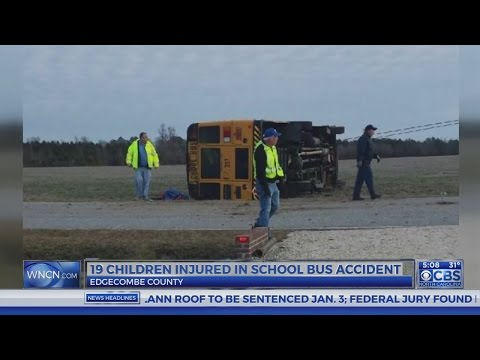 19 injured, 1 seriously following Edgecombe County school bus crash