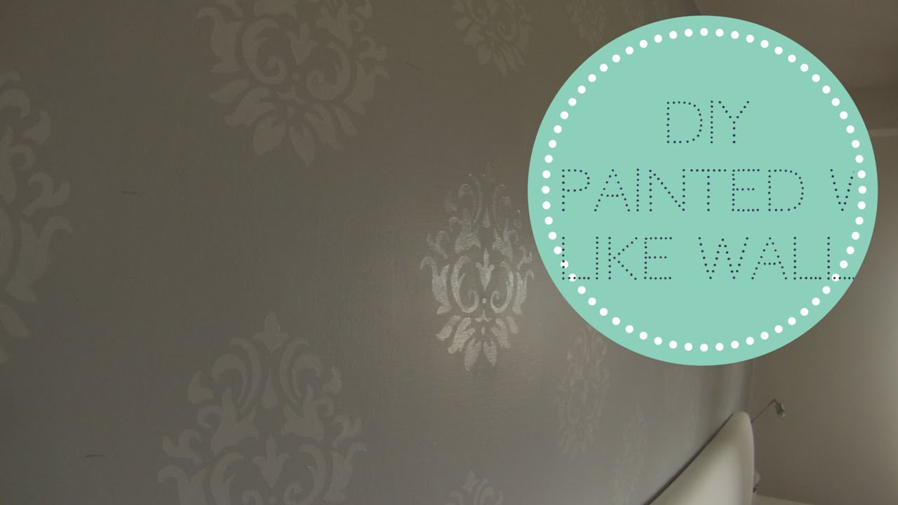 DIY parete dipinta come carta da parati DIY painted wall with ...
